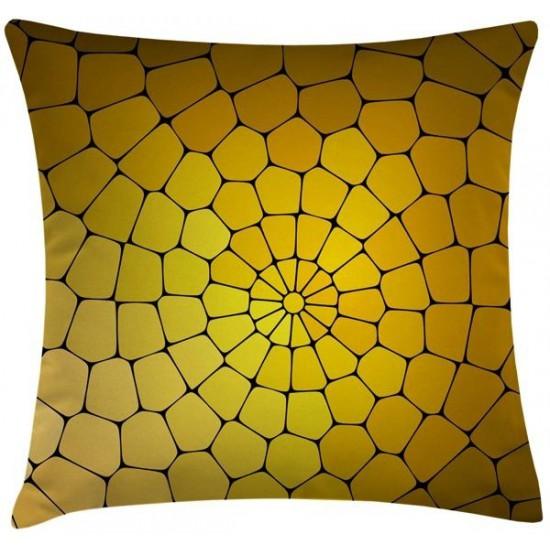 SUNCOMB Güneş Peteği Desenli Sarı 45x45 cm Kırlent