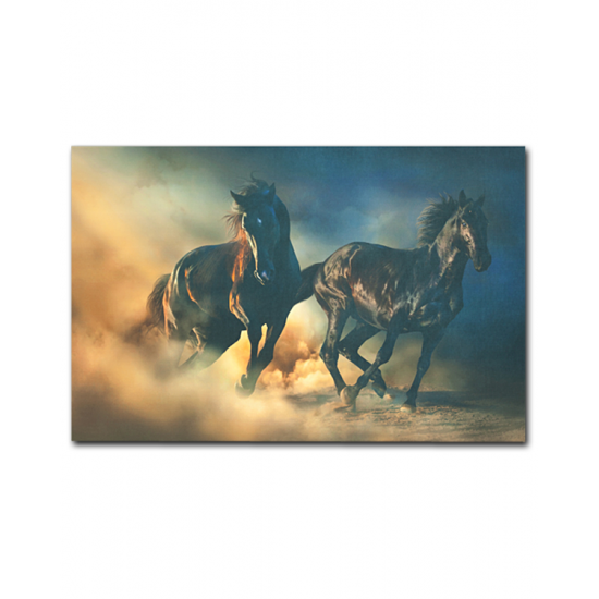 HORSES 90x140 cm Canvas Tablo