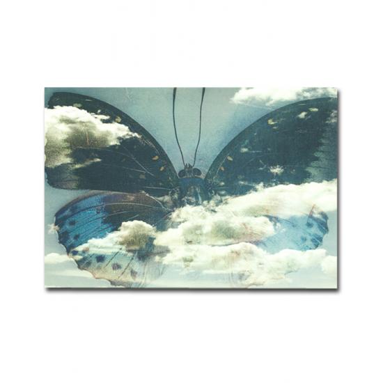 BUTTERFLY 70x100 cm Canvas Tablo